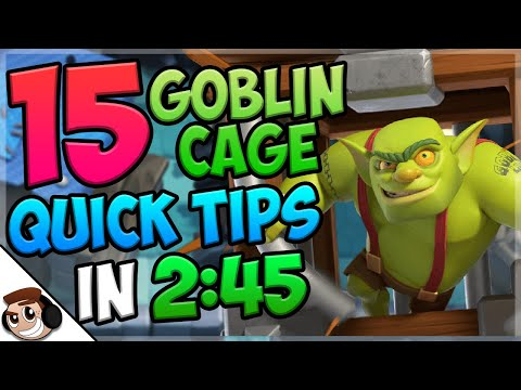 15 QUICK Tips About: Goblin Cage🔒| Clash Royale