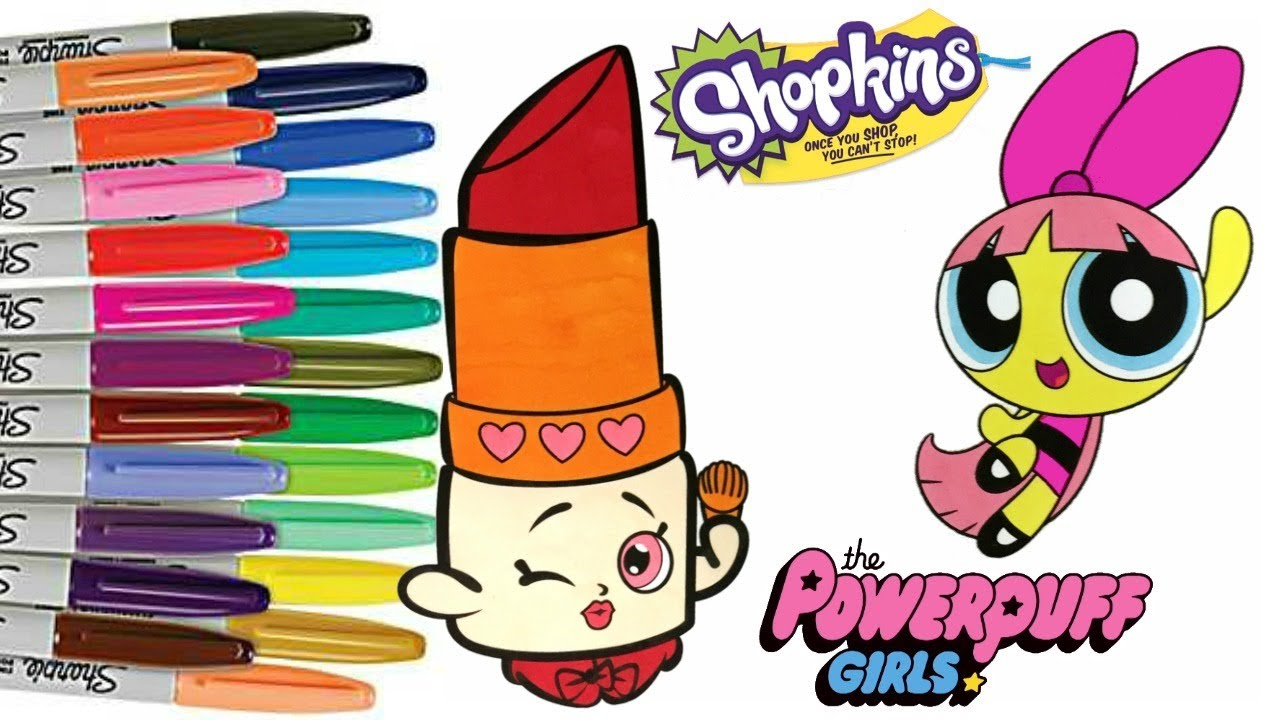 powerpuff girls color swap blossom shopkins lippy lips ppg coloring