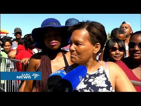 Thousands gather at the Sea Point swimming pool