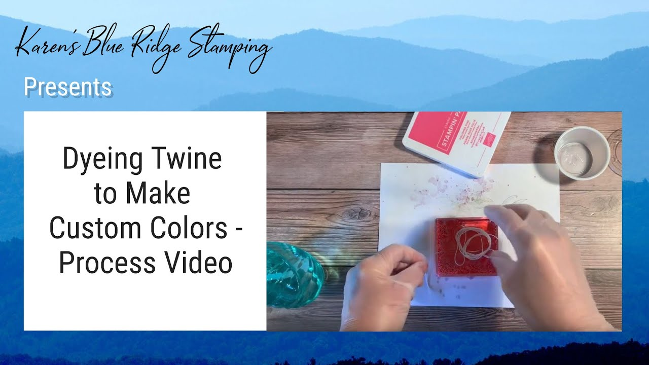 Dyeing Twine to Make Custom Colors
