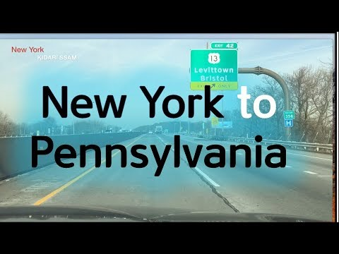 New York to Pennsylvania -Driving On the Road