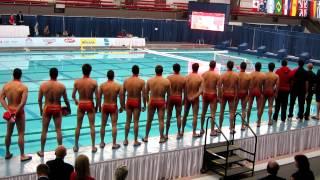 Gold Medallists Team Montenegro National Anthem FINA Water Polo Edmonton 2012 Thumbnail