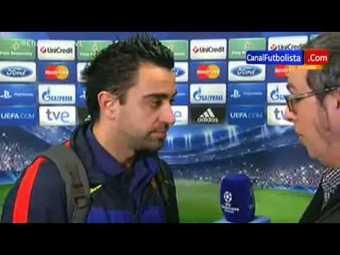 PSG 2 Barcelona 2 Xavi Hernández UEFA Champions League 02-04-2013