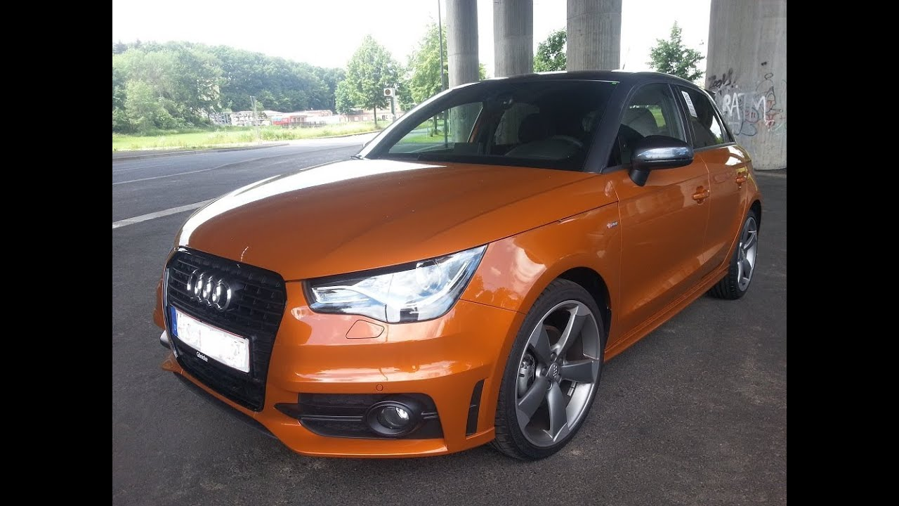 audi a1 1 4 tfsi s line sportback 122 ps probefahrt drive test youtube. Black Bedroom Furniture Sets. Home Design Ideas