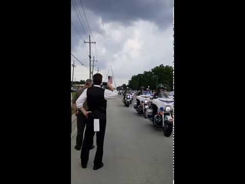 20160722 Funeral Procession of BRPD Officer Matthew Gerald, Part 1