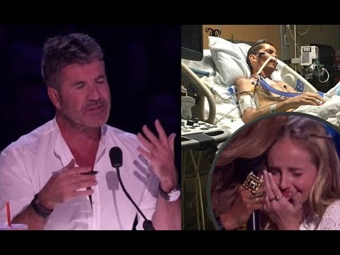 Evie Clair: Simon Cowell CHOKES UP While Her Sick Dad Watches Her Sing From The Hospital | AGT 2017