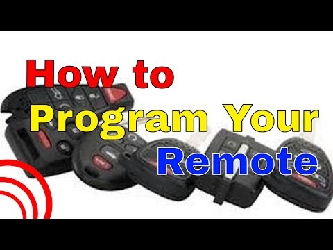 How to program most chinese generic keyless entry alarm remotes