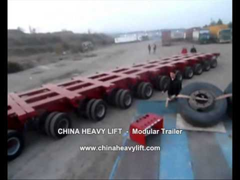CHINA HEAVY LIFT Modular Trailer After sales service in Georgia (hydraulic multi axle) 17