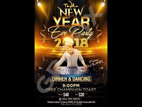 TADKA # New Year Eve 2018 # Grand Buffet # DJ # TOAST# BallDrop