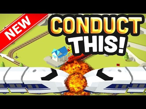 STOPPING TRAINS FROM CRASHING!! - NEW ADDICTIVE Conduct THIS Game! - (IOS/Android) - 동영상
