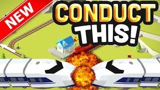 STOPPING TRAINS FROM CRASHING!! | NEW ADDICTIVE Conduct THIS Game! | (IOS/Android)