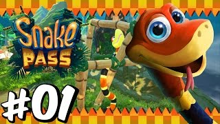 Snake Pass (100%) | Part 1 | Level 1 & 2 (Nintendo Switch)