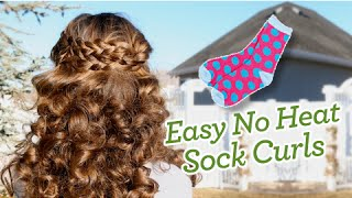 Sock Curls | Easy No-Heat Curls | Cute Girls Hairstyles