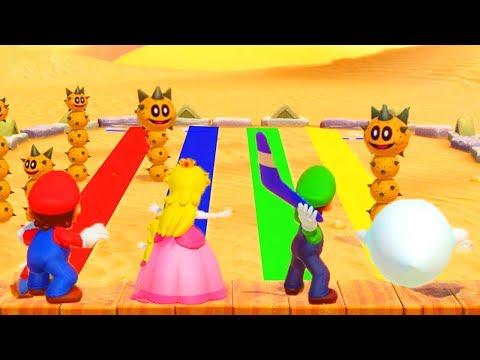 Super Mario Party - Minigames - Mario vs Peach vs Luigi vs Boo