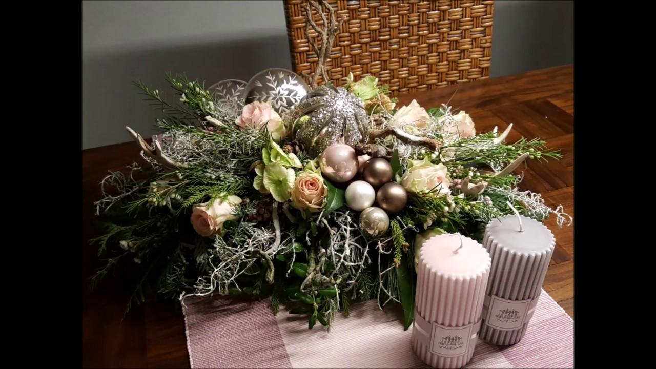 weihnachten schnelles weihnachtliches tischgesteck b rbel s wohn deko ideen youtube. Black Bedroom Furniture Sets. Home Design Ideas