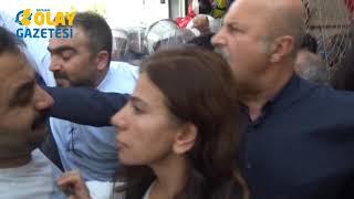 Batman'da açıklama yapmak isteyen HDP'lilere müdahalee