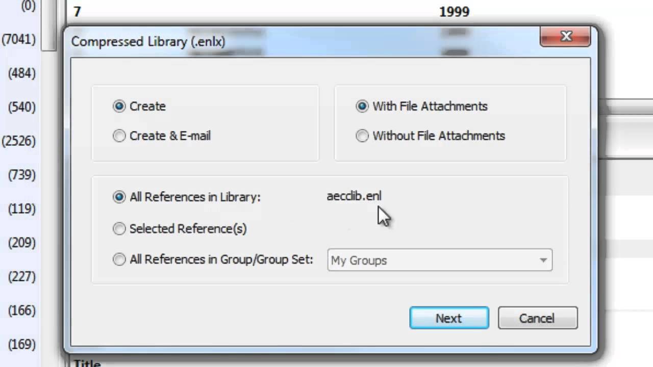 Saving Apressed Version Of Your Library In Endnote X7