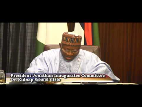 President Jonathan Inaugurates Committee On Kidnap School Girls