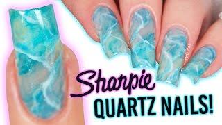 Quartz - Marble Nail Art using SHARPIES!