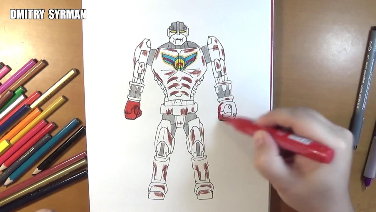 Speed Drawing Robot Ambush Real Steel Youtube