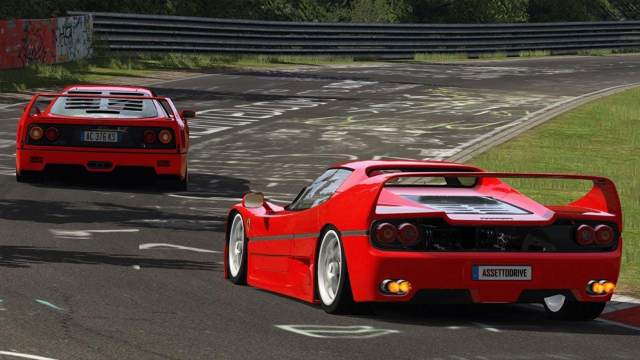 Ferrari F50 Vs F40 Nürburgring Assetto Corsa Youtube