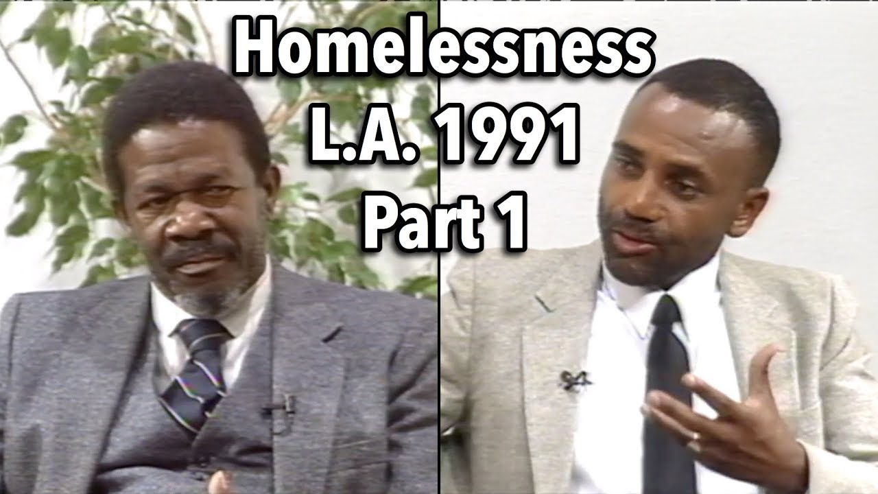 Jesse Lee Peterson Homelessness: L.A. 1991 Discussion, Part 1: Union Rescue Mission (FIXED AUDIO)