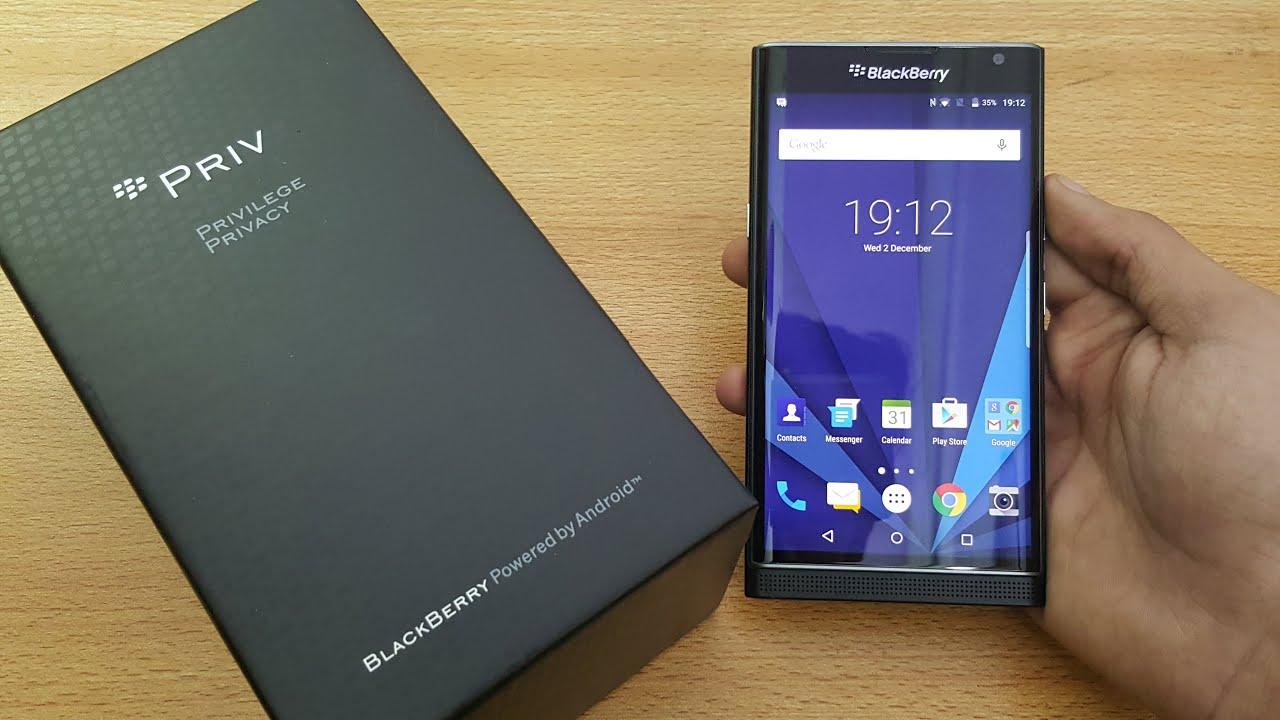 BlackBerry Priv - Unpacking and Setup
