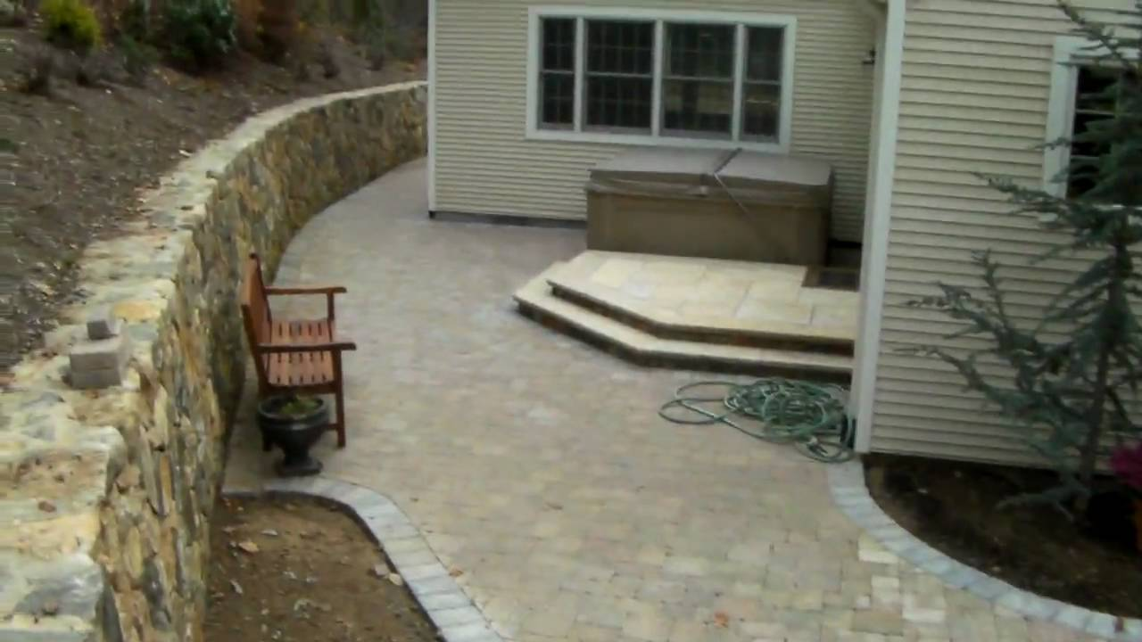 how to build a stone wall youtube