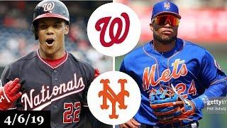 Washington Nationals vs New York Mets Highlights   April 6, 2019