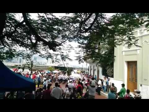 Banda de Musica Ventura Delgado Instituto America en Desfile 3 de Nov 2015