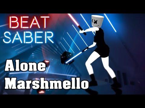 Beat Saber - Alone - Marshmello (custom song)   FC