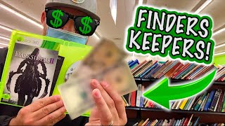 I found this INSIDE THE GAME CASE!? (Live Video Game Hunting)