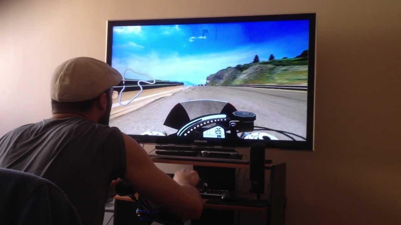 homemade bike simulator HD 7970 - YouTube