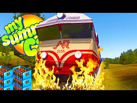WE DESTROYED THE TRAIN! We Can Also Wield It Like a Weapon - My Summer Car Gameplay Highlights Ep 62