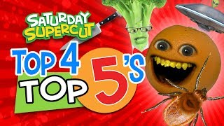 Annoying Orange - Top 4 Top 5's!  (Saturday Supercut)