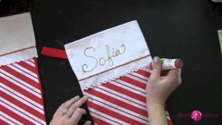 Day 9 of 12 Days Extravaganza! DIY Personalized Christmas Stockings