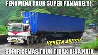 Download Sopir Cemas Truk Tidak Bisa Naik, Truk Trailer Paling Panjang Gemparkan Sitinjau Lauik
