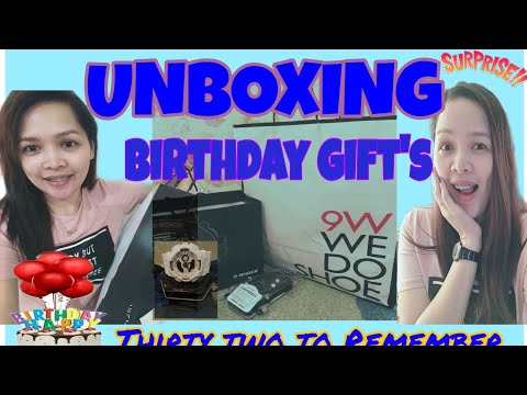 Unboxing Of Birthday Gifts/ Greetings /Lhorsef Lifes
