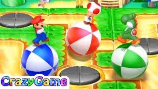 Mario Party 10 Coin Challenge - Mario v Yoshi v Toad (3 Player Master Gameplay) | CRAZYGAMINGHUB