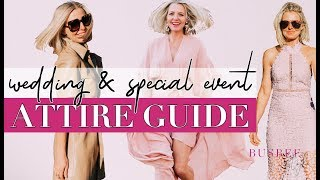 What To Wear To Your Special Event | Attire Guide & Glossary