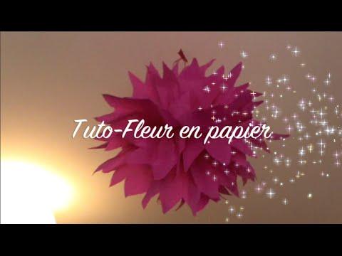 Fleur En Papier Tuto Youtube