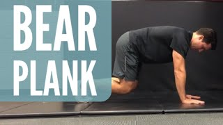 Bear Plank Exercise Demonstration