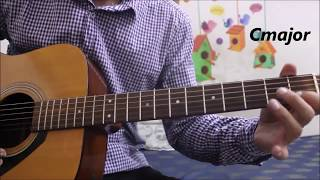 Your First Lesson On Guitar #1 - First Day Practice - Hindi basic guitar lesson for beginners easy
