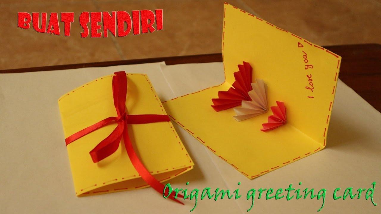 Cara Membuat Origami Kartu Ucapan Easy Origami Greeting Card Youtube