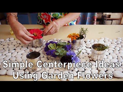 Simple Centerpiece Ideas Using Garden Flowers (In Baby Cups!)