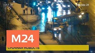 Смотреть видео Движение на шоссе Энтузиастов перекрыто из-за ДТП - Москва 24 онлайн