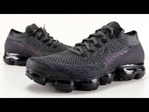 on sale dfdd6 3b435 NIKE AIR VAPORMAX MIDNIGHT FOG IRIDESCENT SWOOSH REVIEW + ON ...