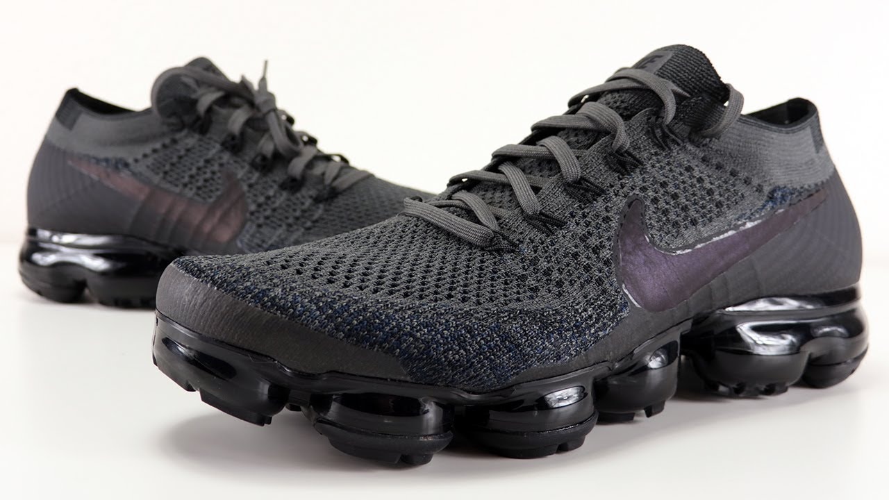 separation shoes 1d833 2d6a1 NIKE AIR VAPORMAX MIDNIGHT FOG IRIDESCENT SWOOSH REVIEW + ON FEET