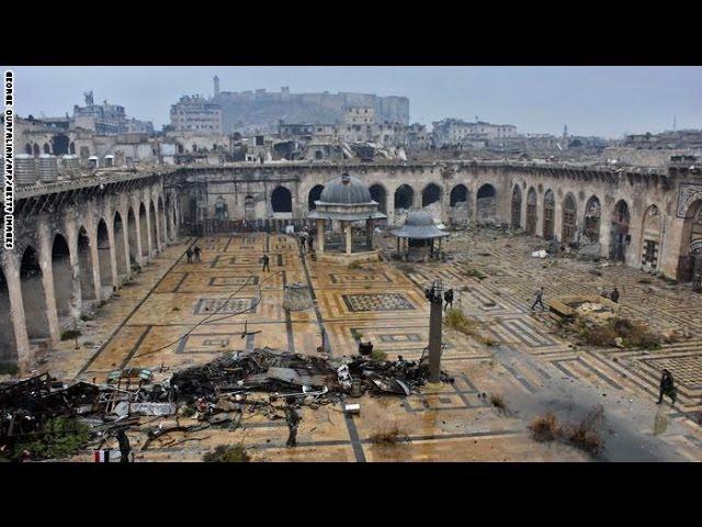 صور حديثة للجامع الأموي دبابات وجنود ودمار Youtube