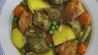 Guiso De Pollo Con Alcachofas (chicken Stew With Artichokes)